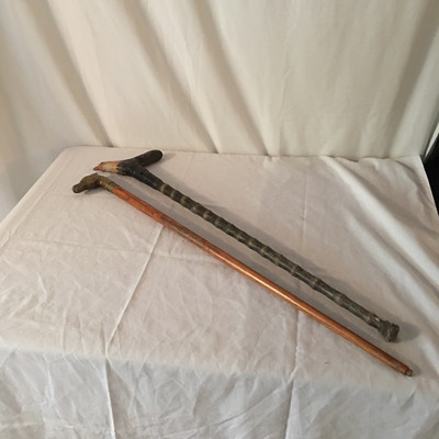 Lot 2 - Pair of Walking Sticks