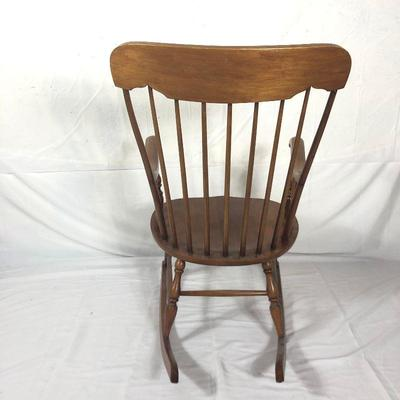 Lot 33 ~ Vintage 1930's Maple Rocking Chair