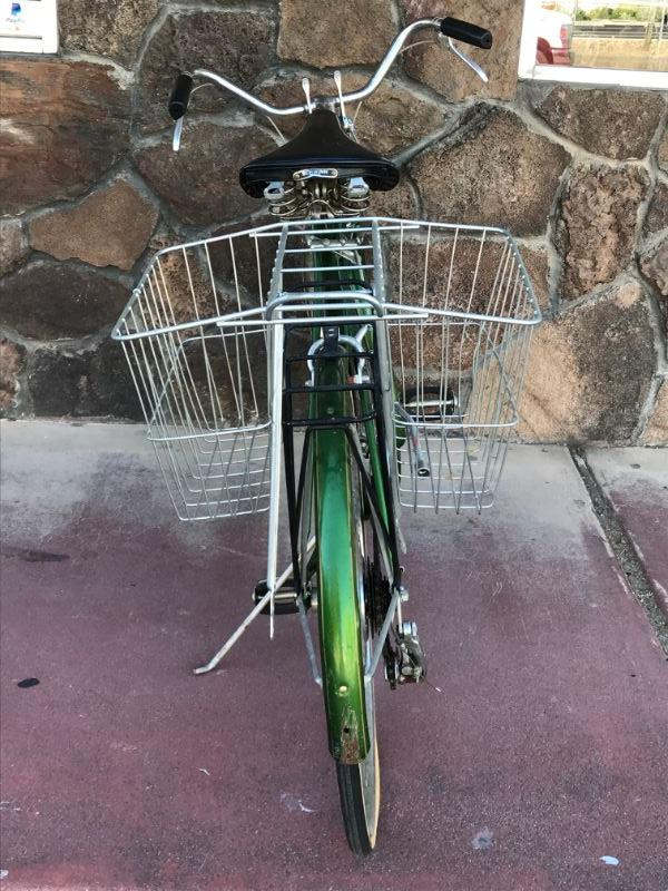 Vintage Schwinn Suburban Bicycle with Double Basket. Overall in good condition, needs minor repairs (tires are flat).