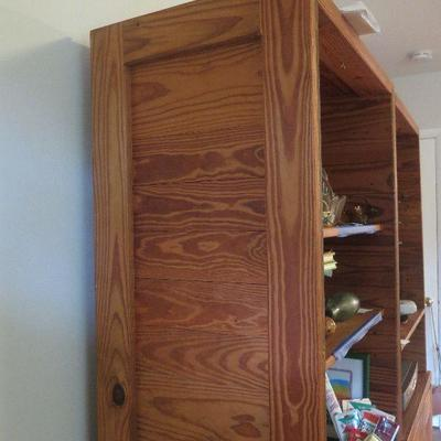 Solid wood bookcase / shelving