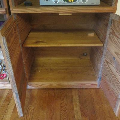 Solid wood entertainment center w storage