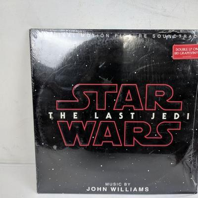 Star Wars: The Last Jedi Double LP 180 Gram Vinyl, Music By John Williams - New