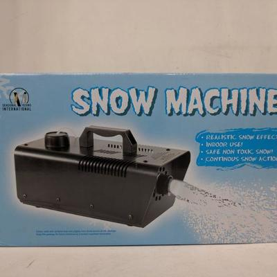 Seasonal Visions Snow Machine - New, Opened Box