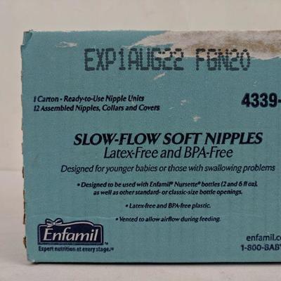 Lot of 20x Enfamil Standard Flow Soft Nipples Latex-Free /& BPA Free