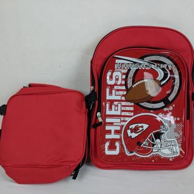 NFL Kansas City Chiefs Backpack and Lunchbox