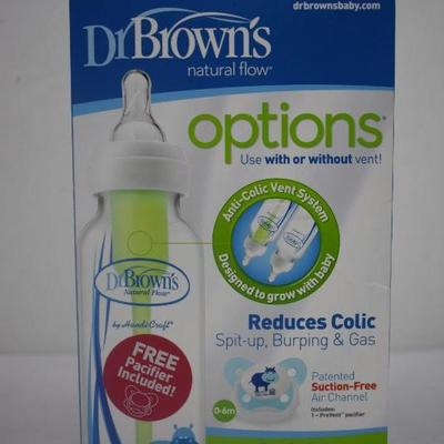 Dr. Brown's Natural Flow Bottle 2x 8 oz, Reduce Colic - New