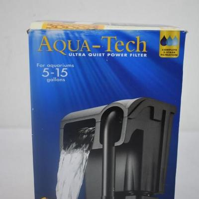 Aqua Tech Ultra Quiet Power Filter for 5-15 Gal Aquariums - New