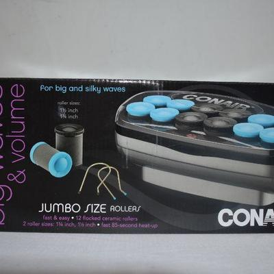 Conair Jumbo Size Rollers for Waves - New