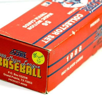1988 Score Baseball Cards Collector Set Factory Complete Box Estatesalesorg