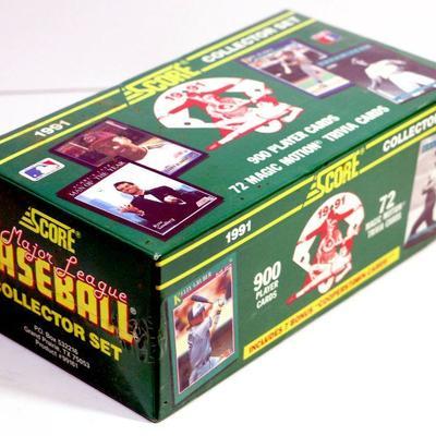 1991 Score Baseball Cards Collector Set Factory Sealed Box Estatesalesorg