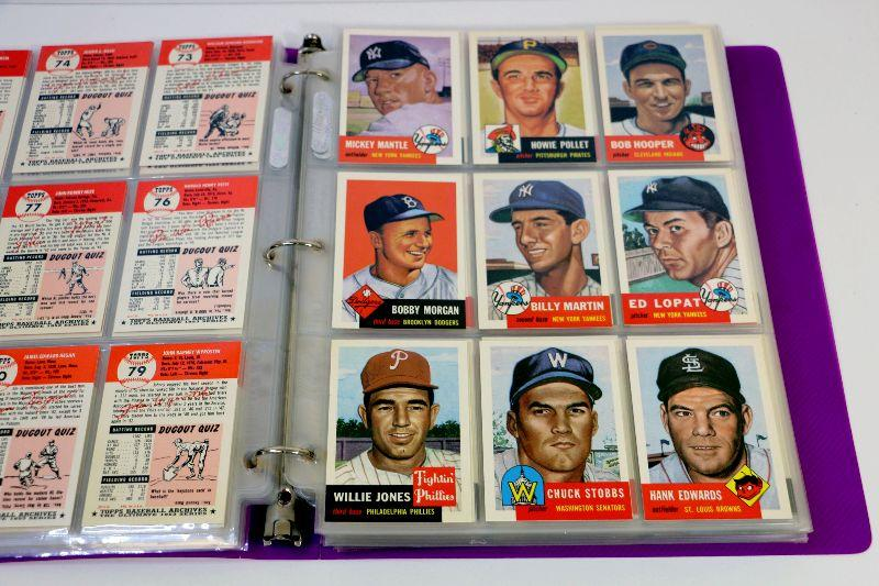 1953 Topps Baseball Archives Complete Cards Set 1 337 Mint 1991 Mickey Mantle Estatesalesorg