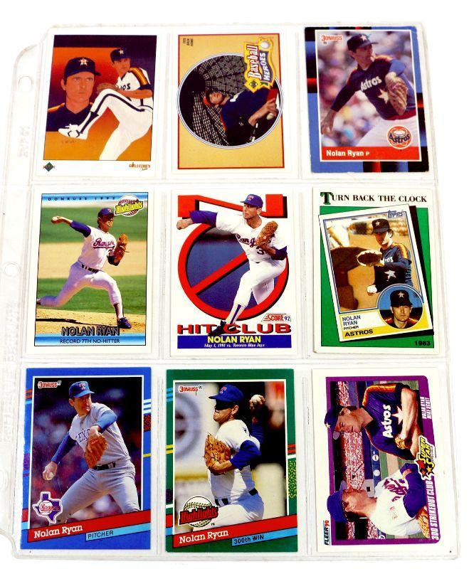Nolan Ryan Baseball Cards Set Of 9 Hof Mint Estatesalesorg
