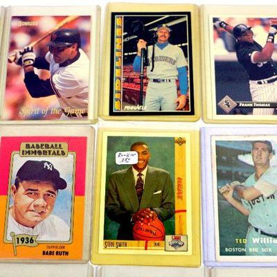 BABE RUTH STAN MUSIAL Willie Mays & More - BASEBALL CARDS SET of 15 HOF