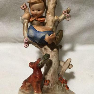 Vintage Hummel/Goebel 56/B Out of Danger girl in a tree w/ dog figurine 6