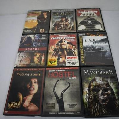 9 Horror/Action Movies: Salt - Mandrake Unrated/R