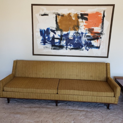 Very cool Selig-Monroe mid century danish sofa!!