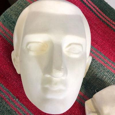 Lot #02 Life Size Cast of Face, Hand & Feet