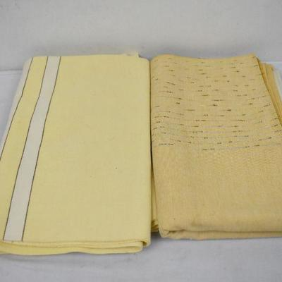 2 VIntage Tablecloths Yellow/Gold