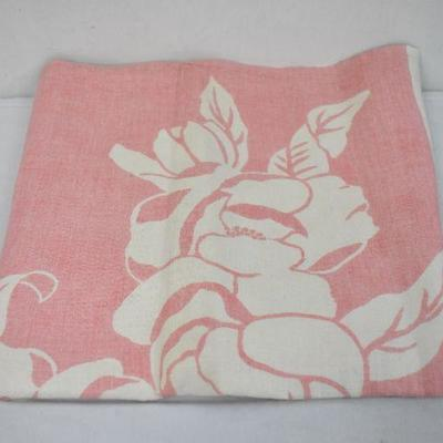 Vintage Red/Flower Square Tablecloth