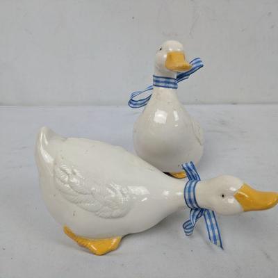 Two Ceramic Ducks