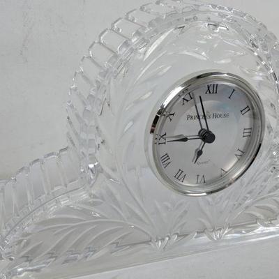 Princess House Quartz Glass Clock