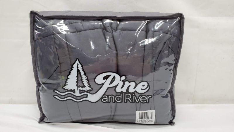 20 LB Grey Weighted Blanket, Pine & River - New