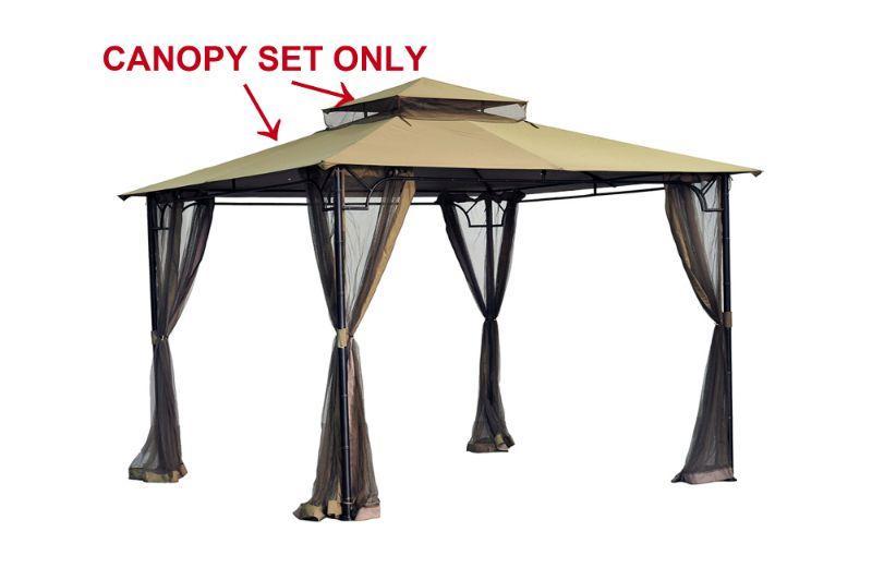 Sunjoy Replacement Canopy 10X10 Gazebo, Khaki - FABRIC ONLY - New