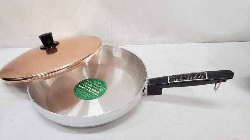 """Vintage Regal Supreme Copper Lid  11"""" Pan, Never Used"""