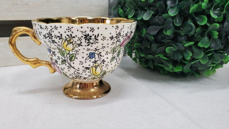 Vintage Rosina Bone China Made in England Teacup, Pattern: 4974, June