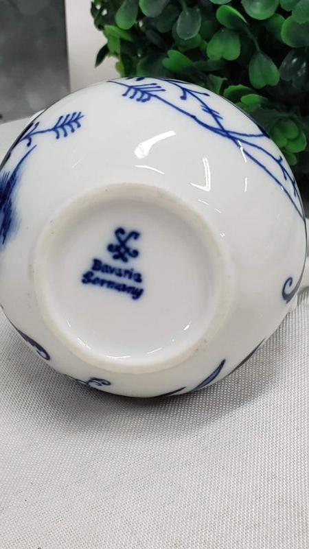 Vintage, Winterling Bavaria Blue Onion Sugar & Onion Sugar & Creamer, Germany, Blue & White