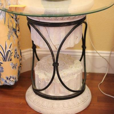 Lot 7 Pillar Glass Side Table