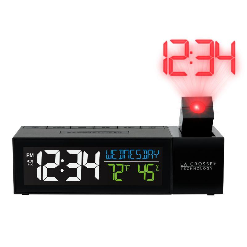 La Crosse Technology 616-1950-INT Pop-Up Bar Projection Alarm Clock with USB Port - New