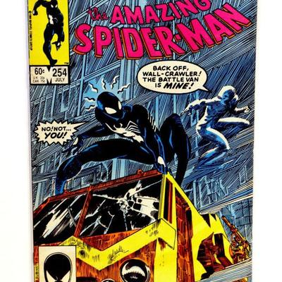 AMAZING SPIDER-MAN #254 Copper Age Marvel Comics 1984 Early Black Suit Cover