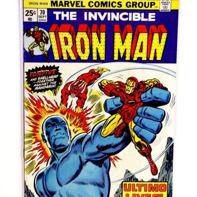 IRON MAN #70 Bronze Age Key Issue Comic Book Marvel Comics 1974