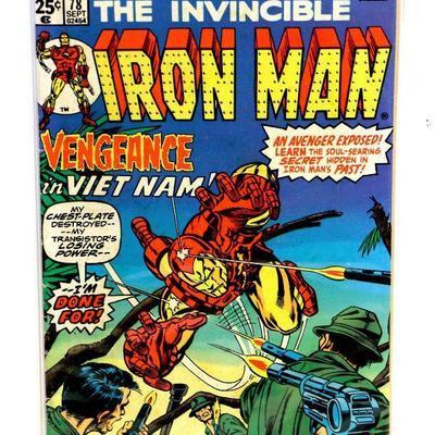 IRON MAN #78 Bronze Age Key Issue Comic Book Marvel Comics 1975 Gil Kane Cover
