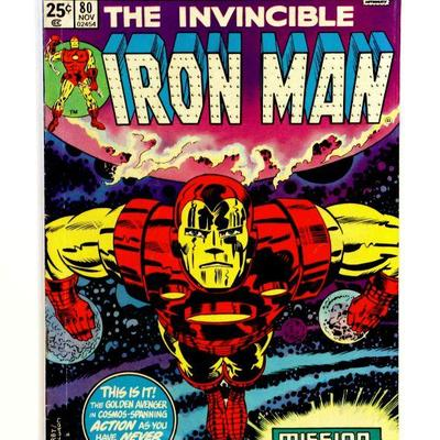 IRON MAN #80 Bronze Age Key Issue Comic Book Marvel Comics 1975 Jack Kirby Cover