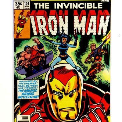 IRON MAN #104 Bronze Age Comic Book Marvel Comics 1977