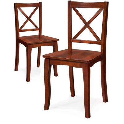 BH&G Ashwood Road Wood Dining Chair, Set of 2. SEE DESCRIPTION