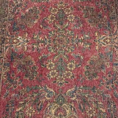 Vintage Persian Wool Rug 35 X 55 (Inches)