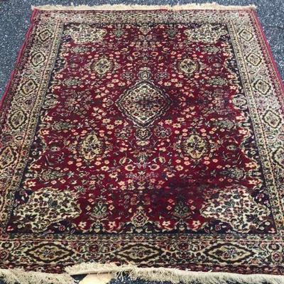 Vintage Persian Beshir  Wool Rug