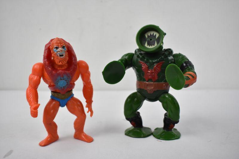 Original He-Man Villains Leech & Beast Man 1983   EstateSales org