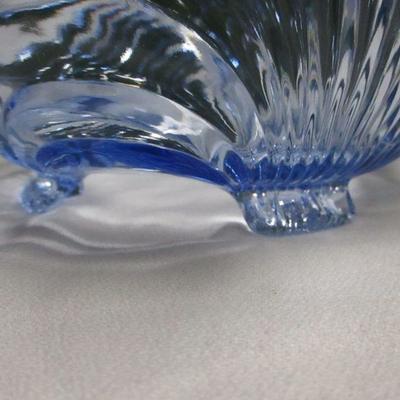 Lot 4 - Large Capri Blue Crystal Bowl