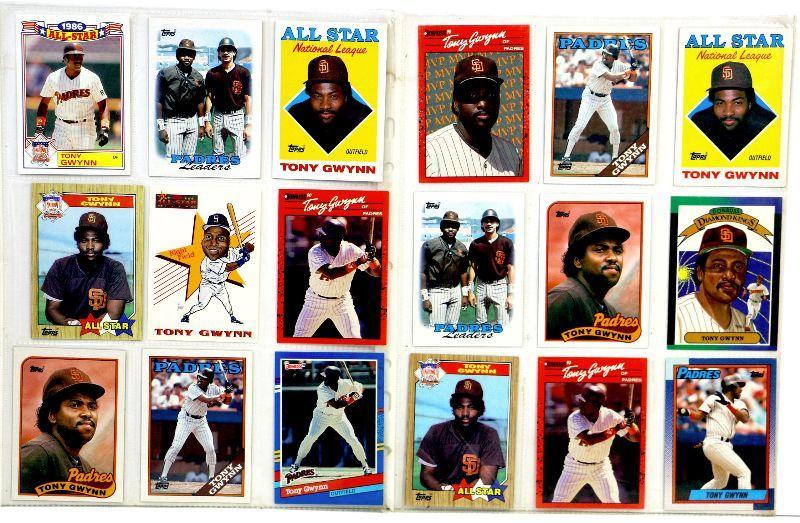 Tony Gwynn Baseball Cards Set 18 All Stars Cards Mint Estatesalesorg