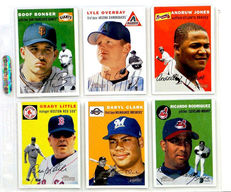 2003 Topps Heritage Baseball Cards Set 6 Cards Lot All Star Mint Estatesalesorg