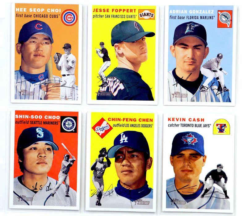 Topps Heritage Baseball Cards Set 6 Cards Lot All Star 2003 Topps All Mint Estatesalesorg