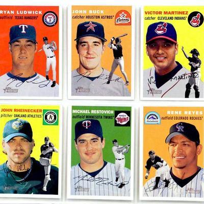 Topps Heritage Baseball Cards Set 6 Cards Lot All Star 2003 Topps All Mint Estatesalesorg