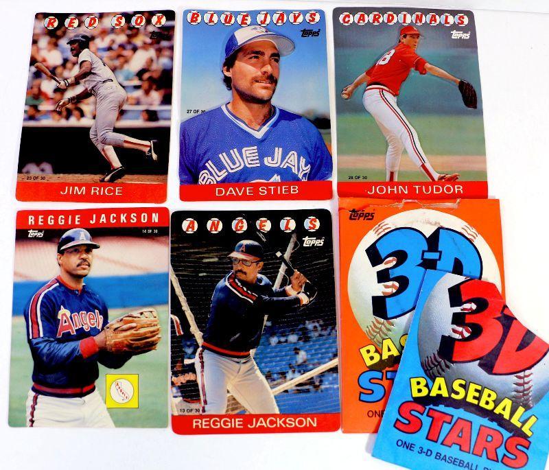 1985 86 Topps 3 D Baseball Cards All Star Reggie Jackson Jim Rice Lot Of 5 Estatesalesorg