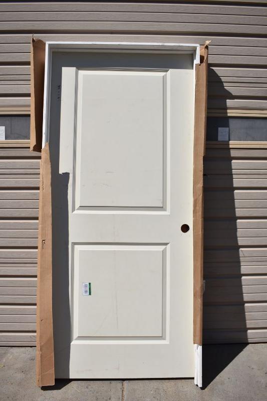 . Interior Door with Door Frame  81 5  x 38  x 4 5    New   EstateSales org