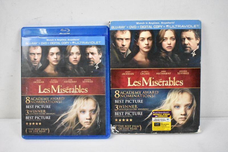 Les Miserables On Blu Ray Dvd No Digital Code Rated Pg 13 Estatesales Org