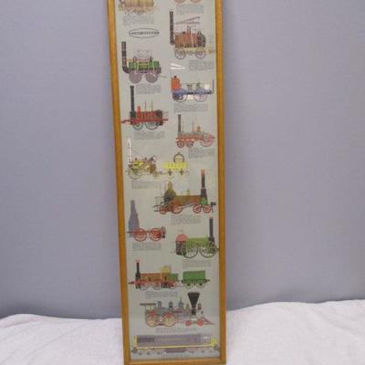Lot 2 - Poster Of Locomotives Trains